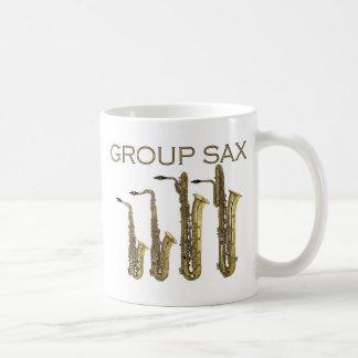Group Sax Classic White Coffee Mug