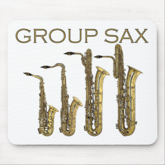 Group Sax Mouse Pad