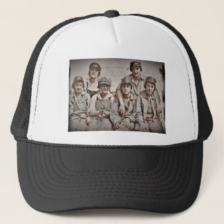 Group Shipyard Workers on Wharf Trucker Hat