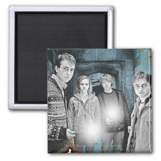 Group Shot 1 2 Inch Square Magnet