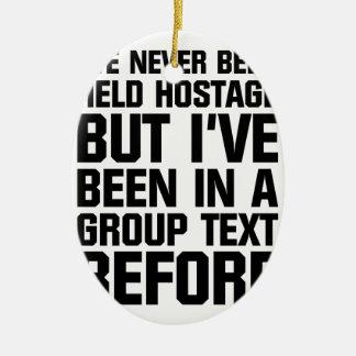 Group Text Ceramic Ornament