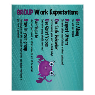 Group Work Expectations Classroom Poster