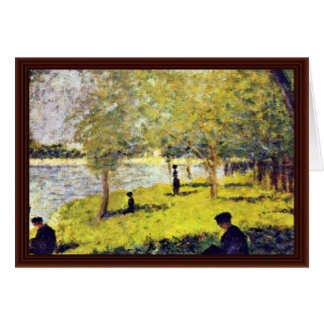 Groupe De Personnages By Seurat Georges Card