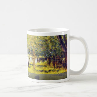 Groupe De Personnages By Seurat Georges Coffee Mug