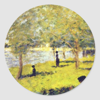 Groupe De Personnages By Seurat Georges Sticker