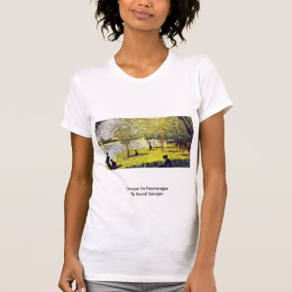 Groupe De Personnages By Seurat Georges Tshirt