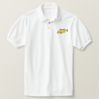 Grouper Embroidered Polo Shirt
