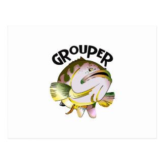 GROUPER FISH 2 POSTCARD