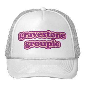 Groupie de la lápida mortuaria gorras