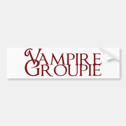 Groupie del vampiro pegatina de parachoque