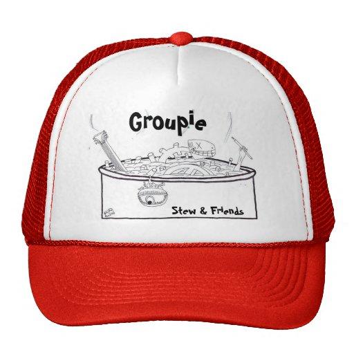 Groupie, guisado y amigos gorros bordados