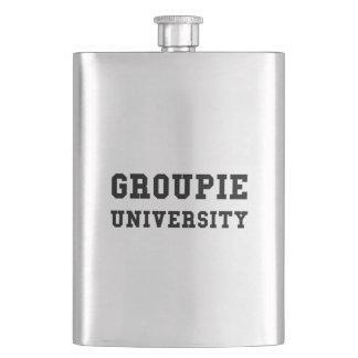 Groupie University Funny Flask