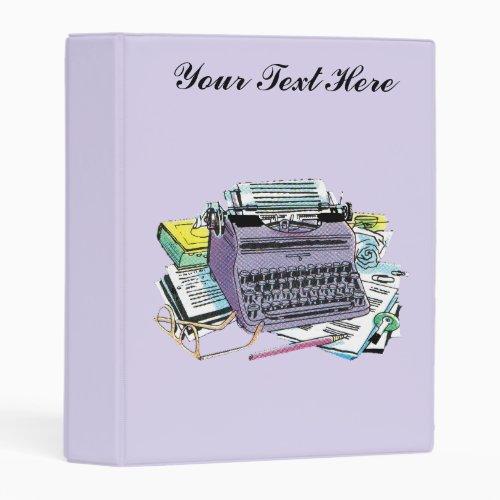 Grouping Vintage Creating Writing Tools Typewriter Mini Binder