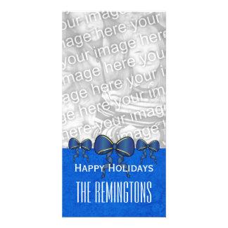 GROUPON Blue Bows Merry Christmas V7 Card