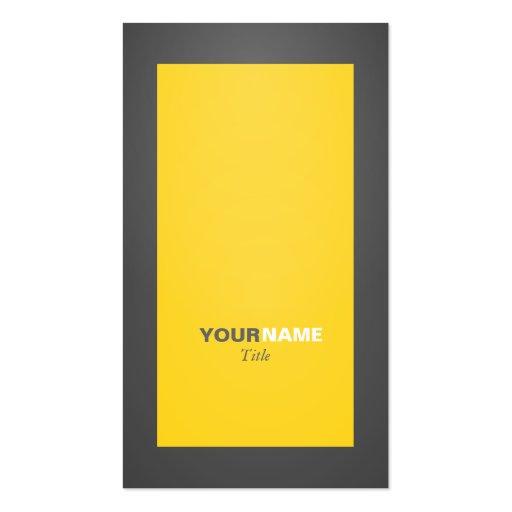 Groupon Caution Yellow Business Card