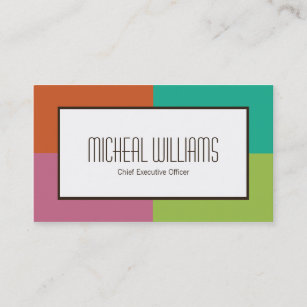 Ceo business cards zazzle groupon color block ceo company business cards colourmoves