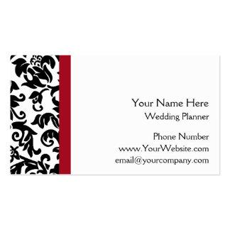 Groupon Damask Wedding Planner business cards