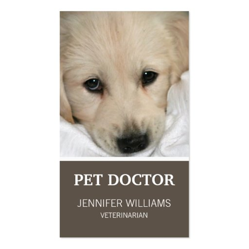 Groupon Dog Doctor Business Card (front side)