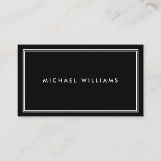 Groupon Elegant Classic Black Business Card