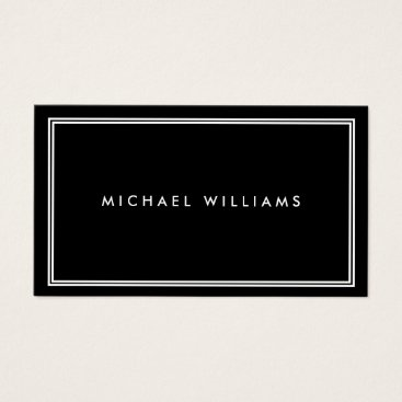 1201am Groupon Elegant Classic Black Business Card