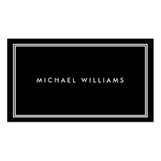 Groupon Elegant Classic Black Double-Sided Standard Business Cards (Pack Of 100)