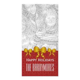 GROUPON Gold Bows Merry Christmas V9 Card