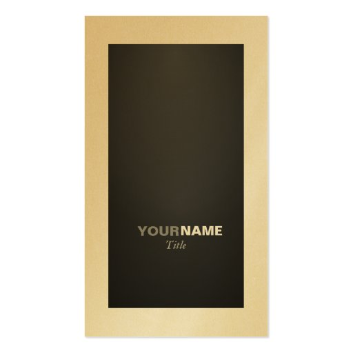 Groupon Graphite and Gold Business Card