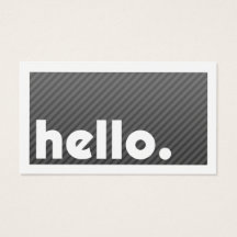Groupon HELLO Black Stripes Company Business Card