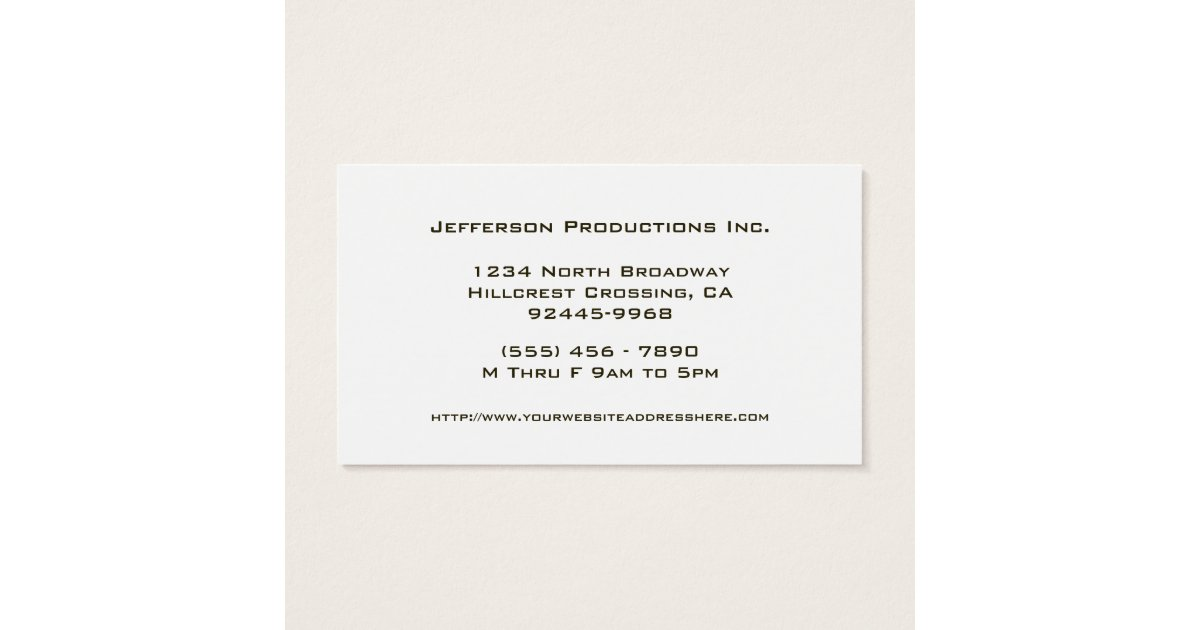 Groupon HELLO Black Stripes pany Business Card