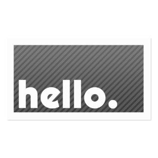 Groupon HELLO Black Stripes Company Tarjetas De Visita