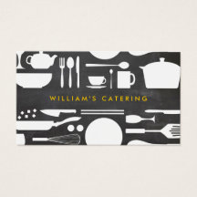 Groupon Kitchen Collage on Chalkboard Background Business Card