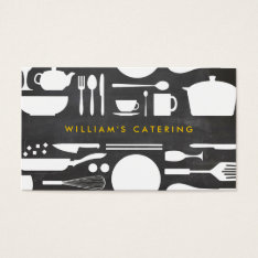 Groupon Kitchen Collage On Chalkboard Background Business Card at Zazzle