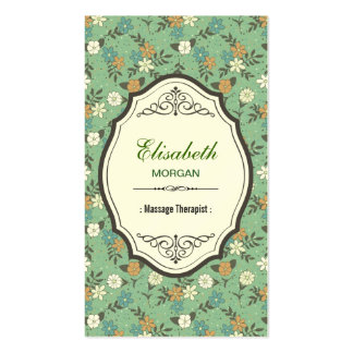 Groupon - Massage Therapist Elegant Vintage Floral Double-Sided Standard Business Cards (Pack Of 100)