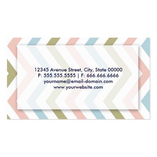 Groupon - Massage Therapist Graceful Chevron Business Cards (back side)