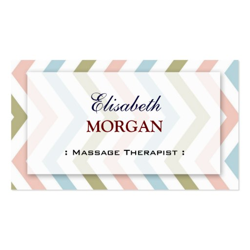Groupon - Massage Therapist Graceful Chevron Business Cards