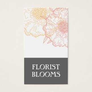 Groupon Modern Florist Business Card