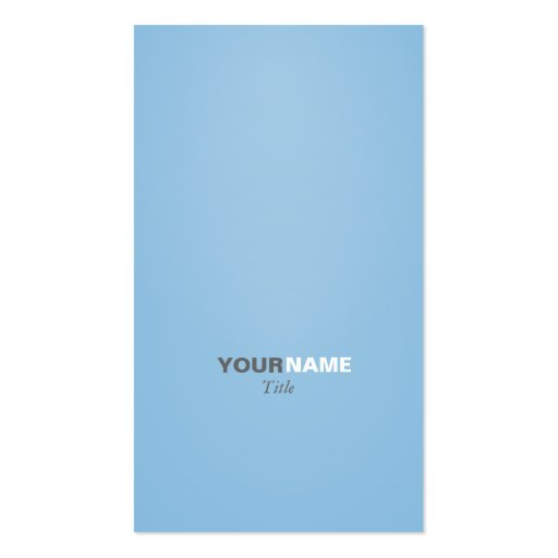 Groupon Modern font Placid Blue Business Card
