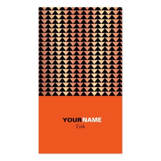 Groupon Modern Orange Business Card