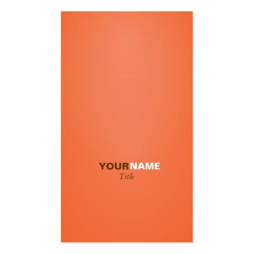 Groupon Orange Business Card