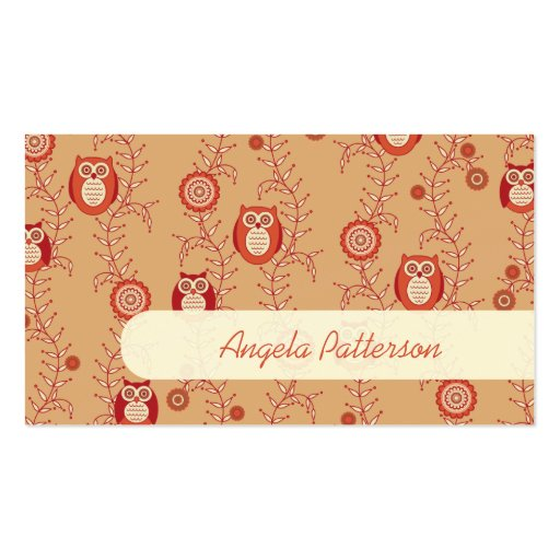 Groupon Owls Mommy Calling Cards Business Card Template
