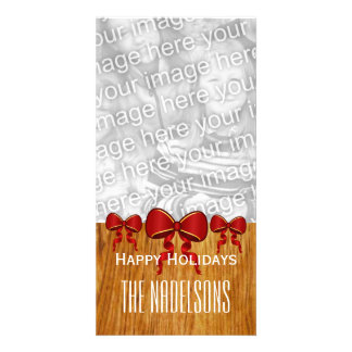GROUPON Red Bows Merry Christmas V8 Card