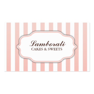 Groupon rosado y blanco lindo moderno elegante plantillas de tarjetas personales