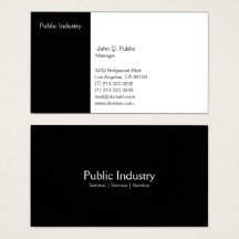 Groupon Simple 2 Third White 1 Third Black Business Card