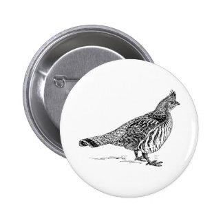 Grouse Bird Sletch Pins