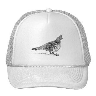 Grouse Bird Sletch Trucker Hat