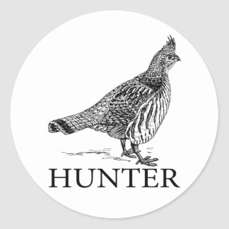 Grouse Hunter Classic Round Sticker