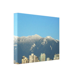 Grouse Mt. Background Wrapped Canvas