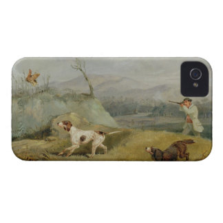 Grouse Shooting (oil on canvas) iPhone 4 Case-Mate Case