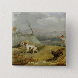 Grouse Shooting (oil on canvas) Pinback Button