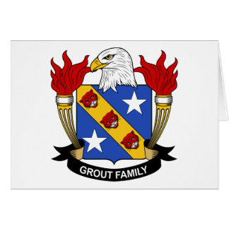 Grout Family Crest Greeting Card